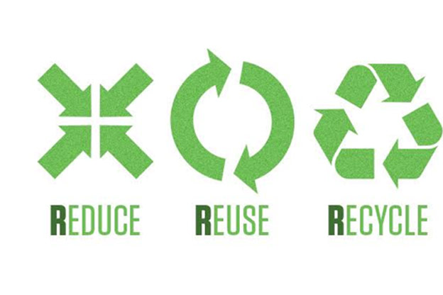 reduce re-use and recycle
